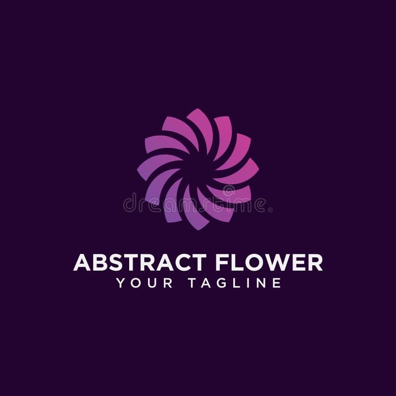 圆摘要花卉标志设计模板 库存图片