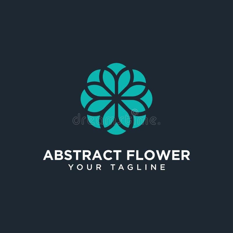 圆摘要花卉标志设计模板 库存照片