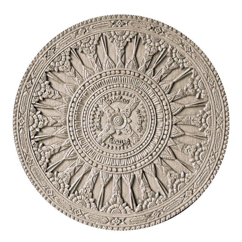 圆材雕刻 库存图片