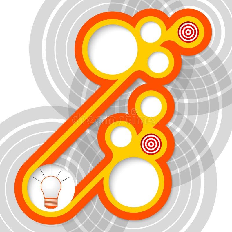 圆框架 向量例证