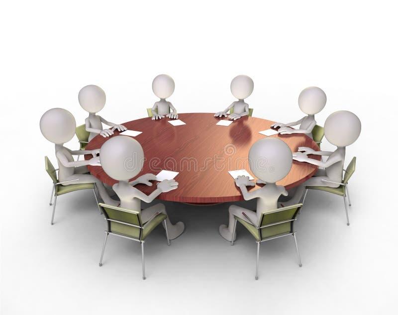 圆桌谈话 皇族释放例证