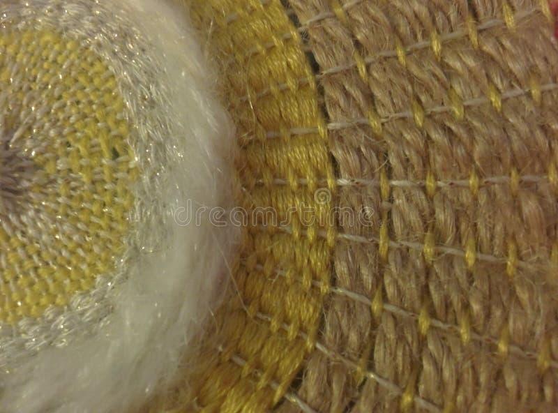 圆歪被编织的背景纤维艺术 库存图片