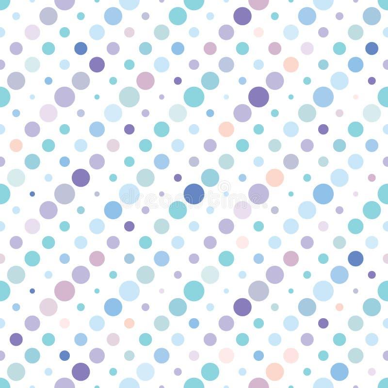 圆点五颜六色的无缝的样式 皇族释放例证