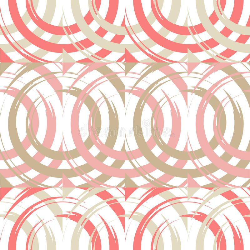 圆点无缝的样式 在正方形的圈子 手工孵化 粗鲁的 杂文纹理 库存例证