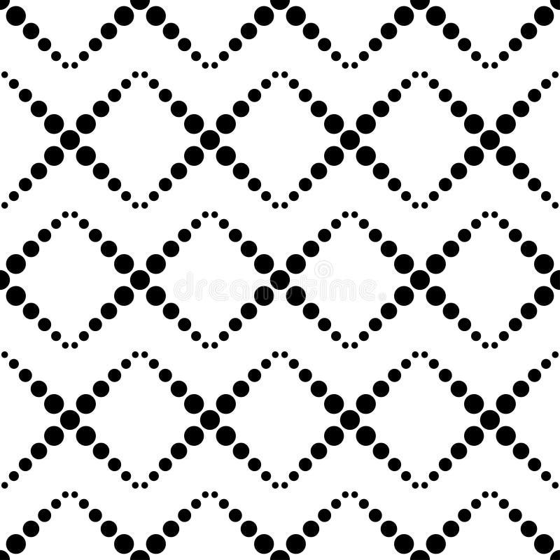 圆点无缝的样式 E 几何的背景 小点、圈子和按钮 库存例证