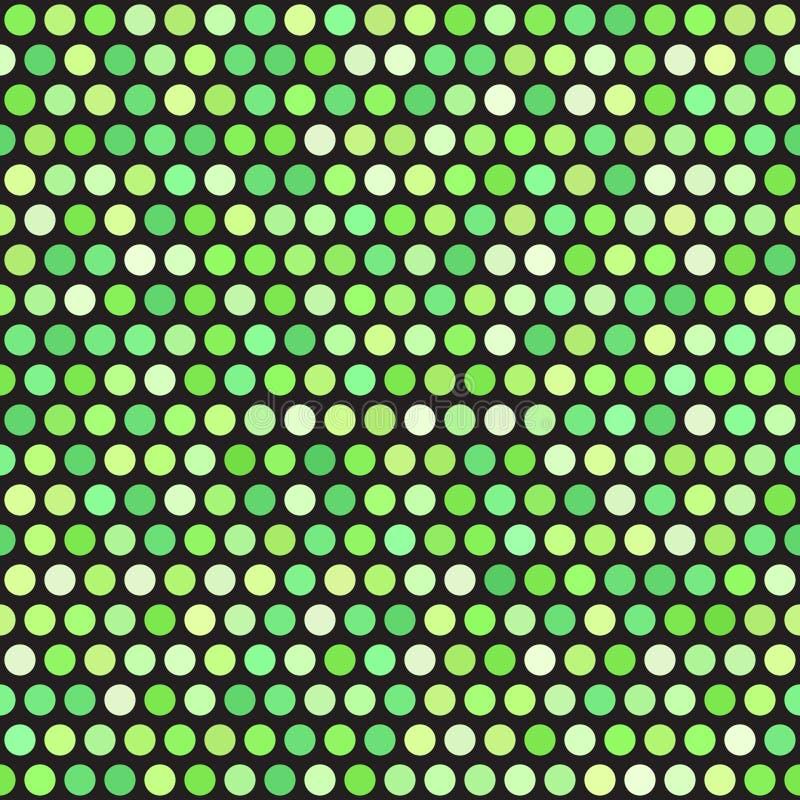 圆点花样的布料背景 无缝的传染媒介光点图形 向量例证