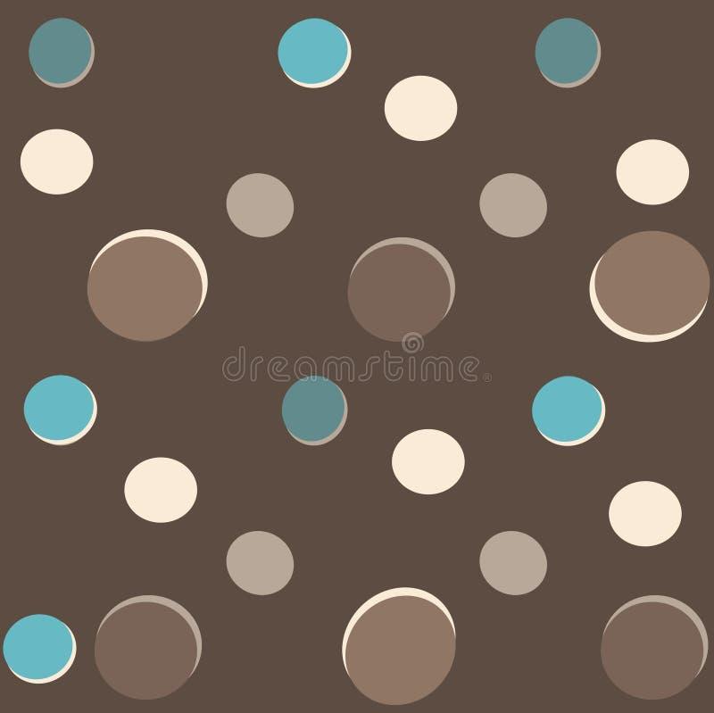 圆点花样的布料背景 向量例证