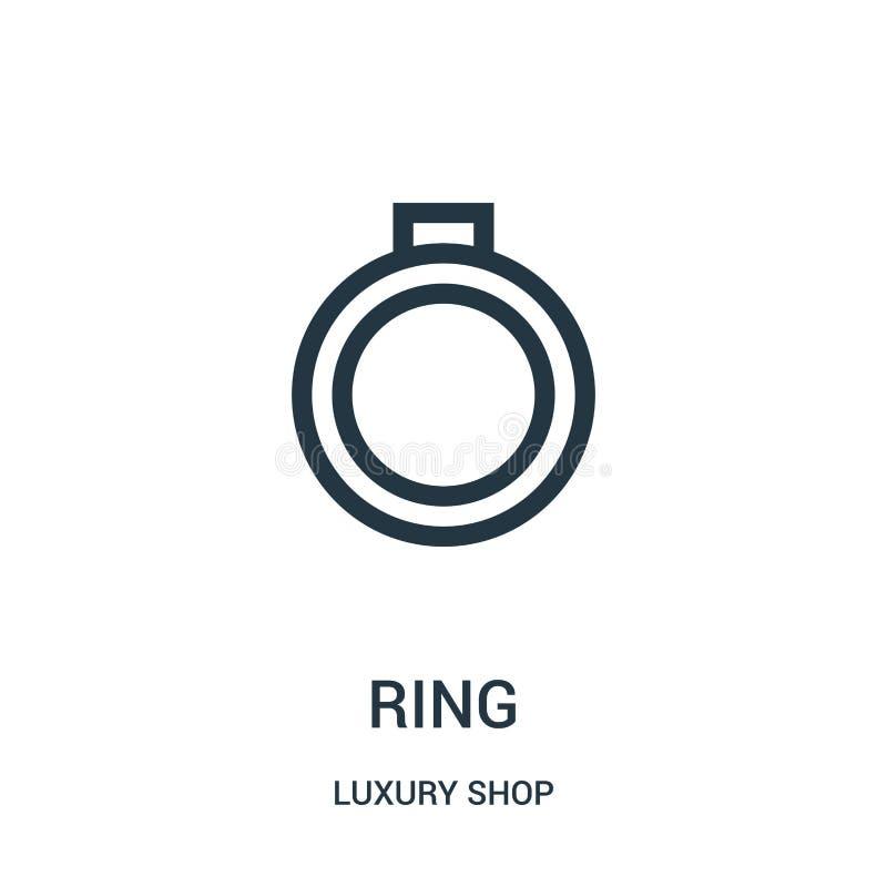 圆环从豪华商店收藏的象传染媒介 稀薄的线圆环概述象传染媒介例证 向量例证