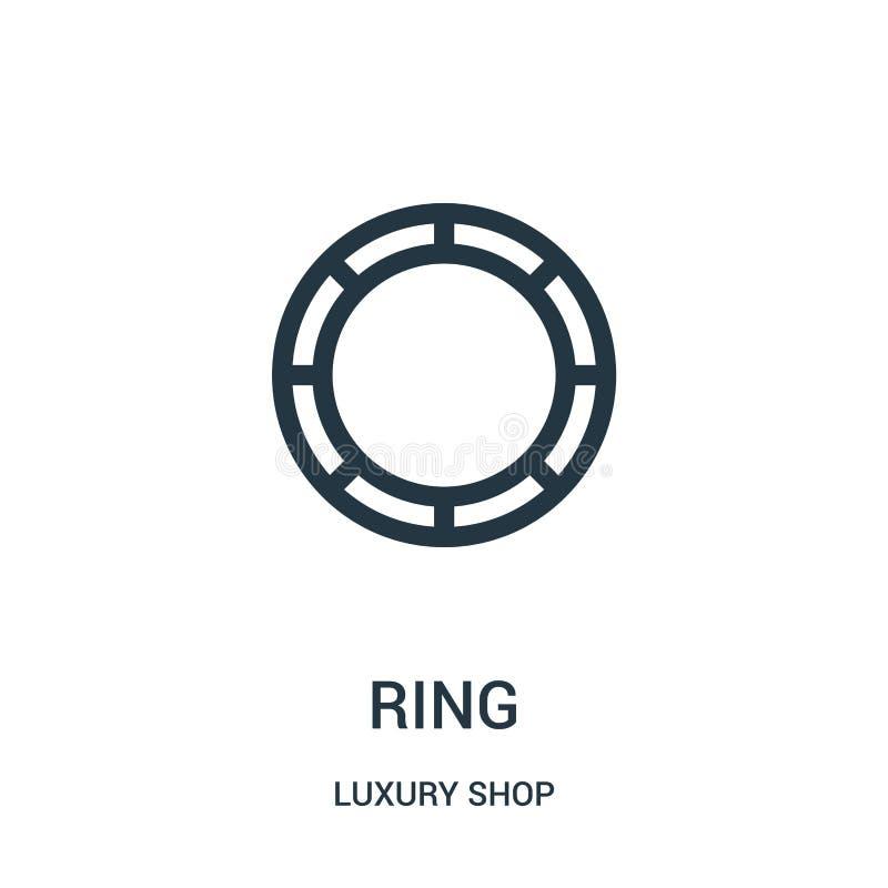 圆环从豪华商店收藏的象传染媒介 稀薄的线圆环概述象传染媒介例证 库存例证