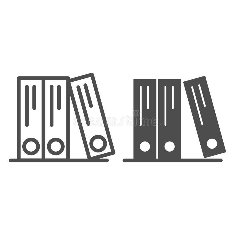 圆环包扎工具排行和纵的沟纹象 办公室文件夹导航在白色隔绝的例证 档案概述样式设计 库存例证