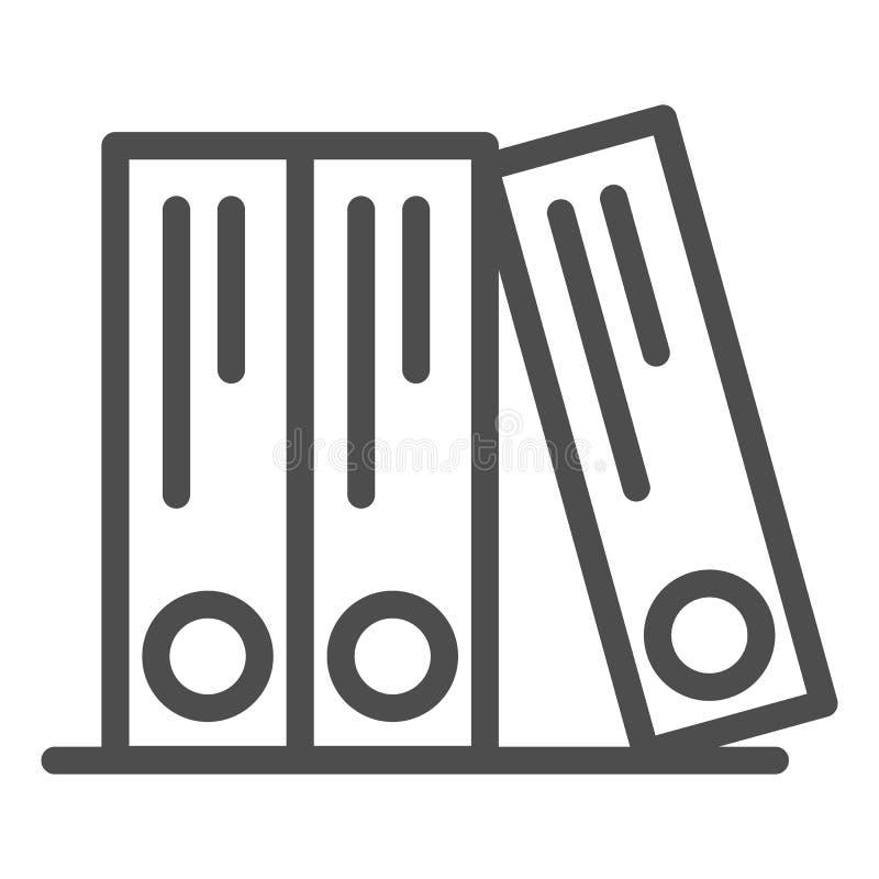 圆环包扎工具排行象 办公室文件夹导航在白色隔绝的例证 档案概述样式设计,设计为 皇族释放例证