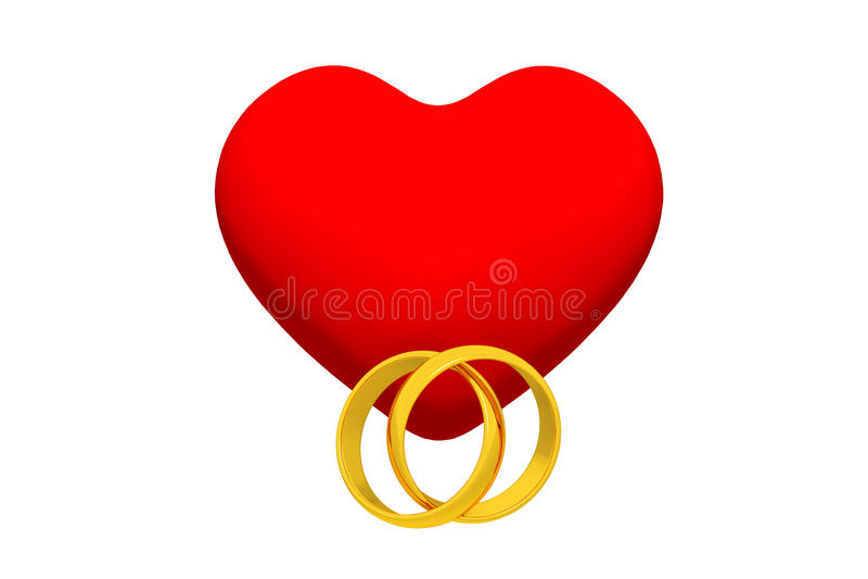 圆环和心脏 皇族释放例证
