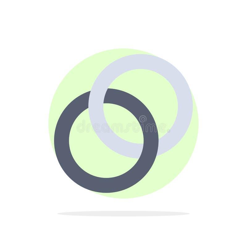 圆环,婚礼,夫妇,订婚摘要圈子背景平的颜色象 库存例证