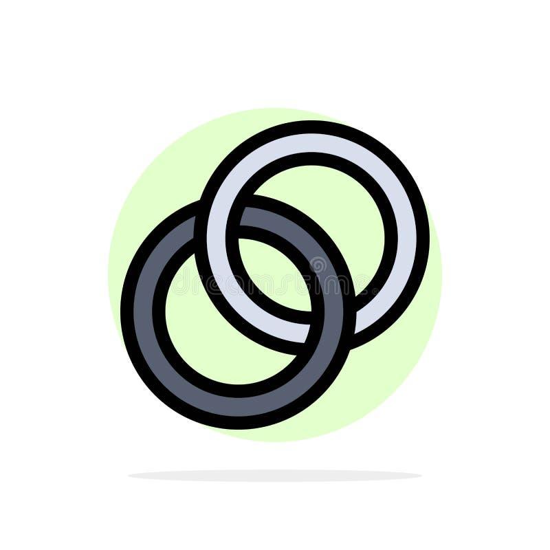圆环,婚礼,夫妇,订婚摘要圈子背景平的颜色象 向量例证
