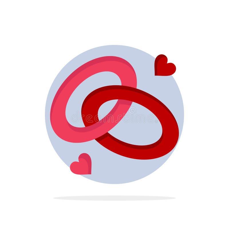 圆环,订婚,结婚戒指,定婚戒指,爱抽象圈子背景平的颜色象 库存例证