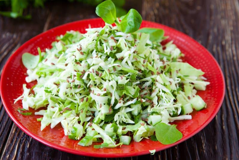 年轻圆白菜新鲜的沙拉  库存照片