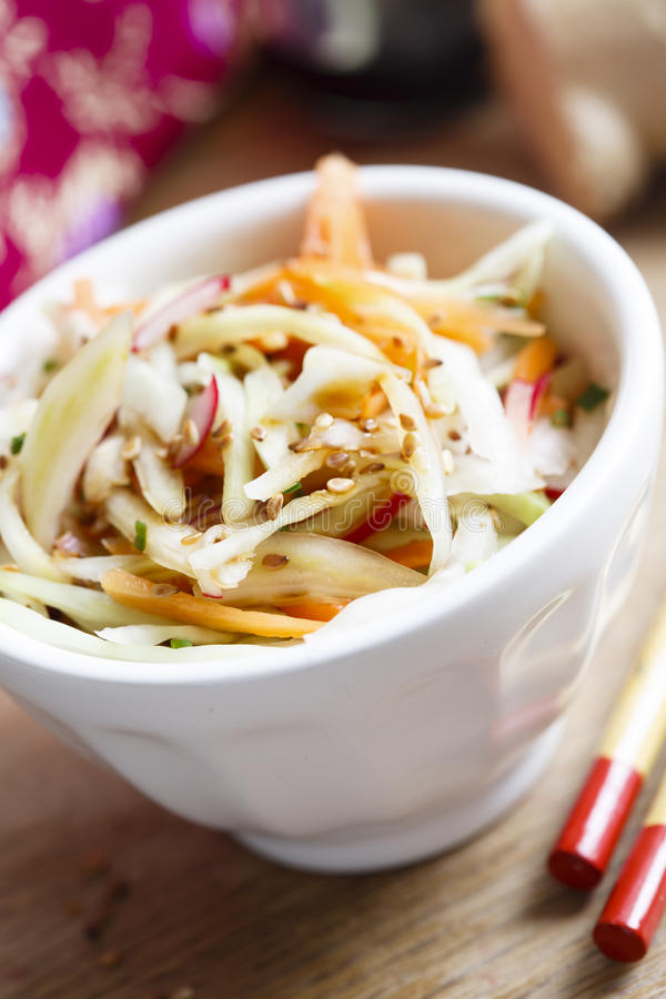 圆白菜沙拉 免版税库存图片
