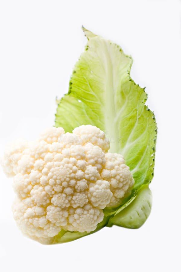 圆白菜花椰菜绿色查出的蔬菜叶 免版税库存照片