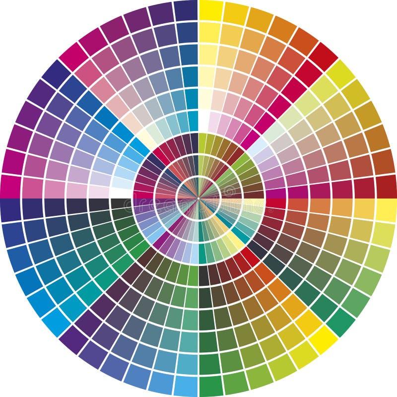 圆的传染媒介颜色图表 库存例证
