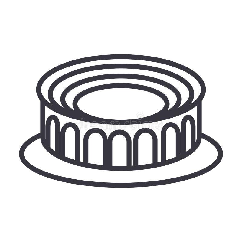 圆的体育场象 向量例证