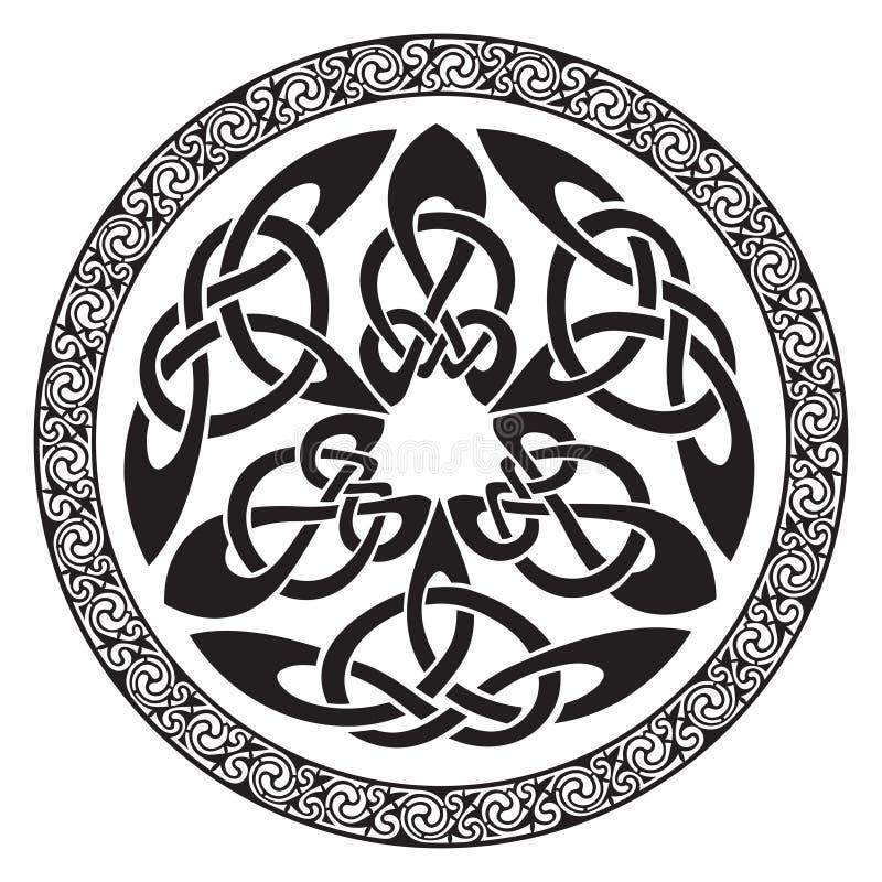 圆的凯尔特设计 皇族释放例证