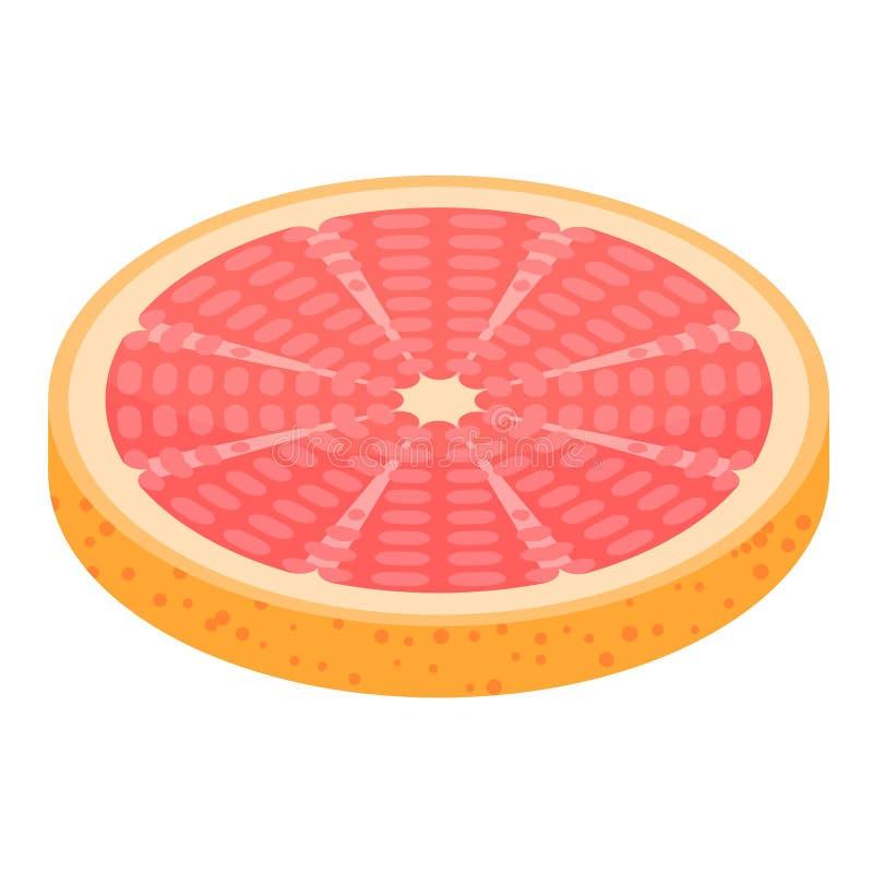 圆的切片葡萄柚象,等量样式 向量例证
