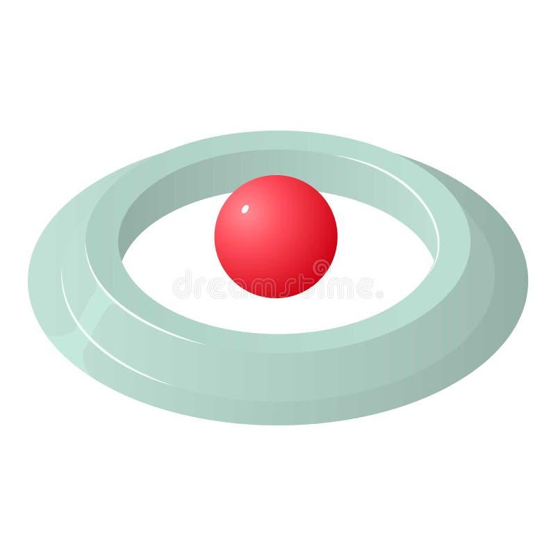 圆的别针象,等量样式 皇族释放例证