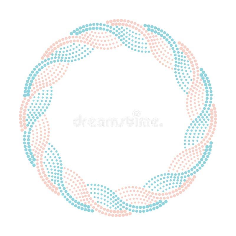 圆的半音边界,蓝色和桃红色装饰框架 皇族释放例证