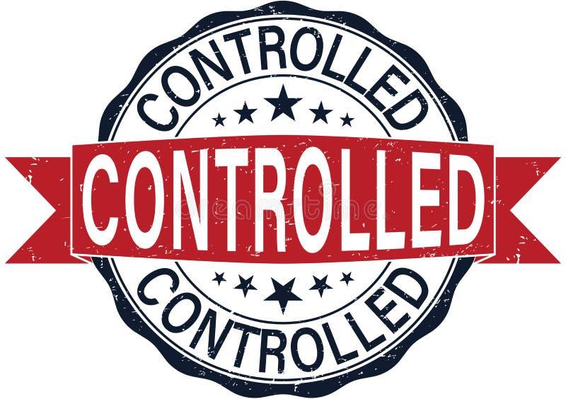 圆的受控不加考虑表赞同的人网徽章 向量例证