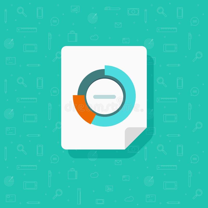 圆的图报告文件、逻辑分析方法或者调查图表逻辑分析方法数据,研究象传染媒介,在纸的分析 库存例证