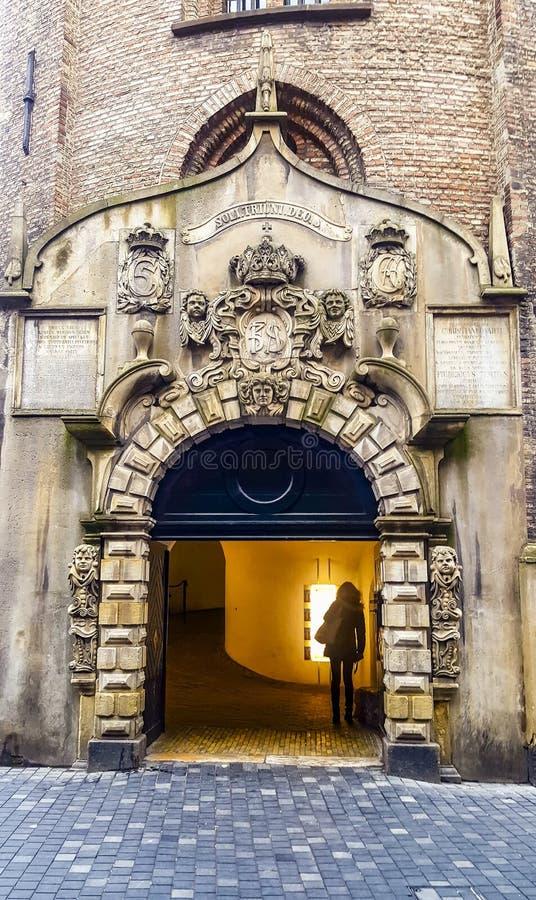 圆的塔入口在哥本哈根 免版税库存照片