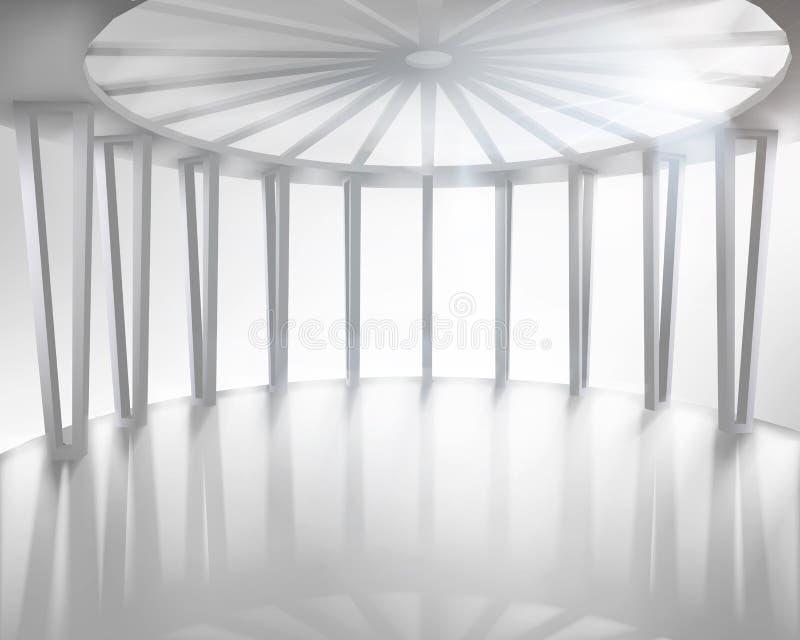 圆的大厅 也corel凹道例证向量 向量例证