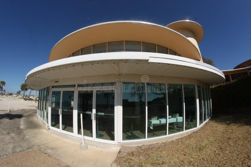 圆的大厦照片使用广角的 免版税库存照片