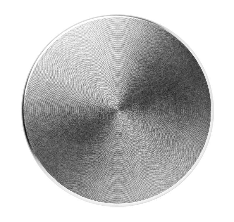 圆的掠过的不锈钢盒盖 库存图片