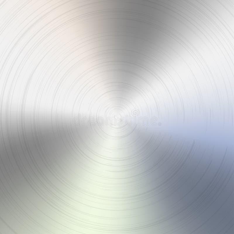 圆的掠过的金属纹理 库存例证