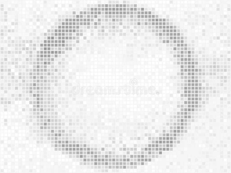 r 圆的方形的映象点马赛克传染媒介横幅 抽象轻的形状框架 向量例证