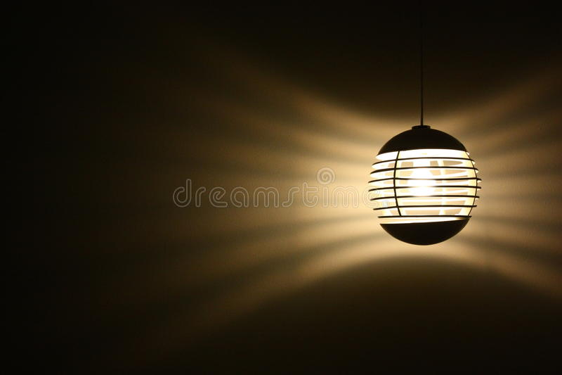 圆的时尚灯 免版税图库摄影
