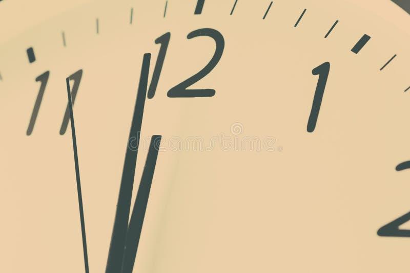 圆的时钟午夜 库存图片