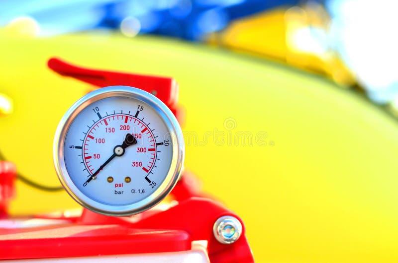 圆的机械压力表, 图库摄影