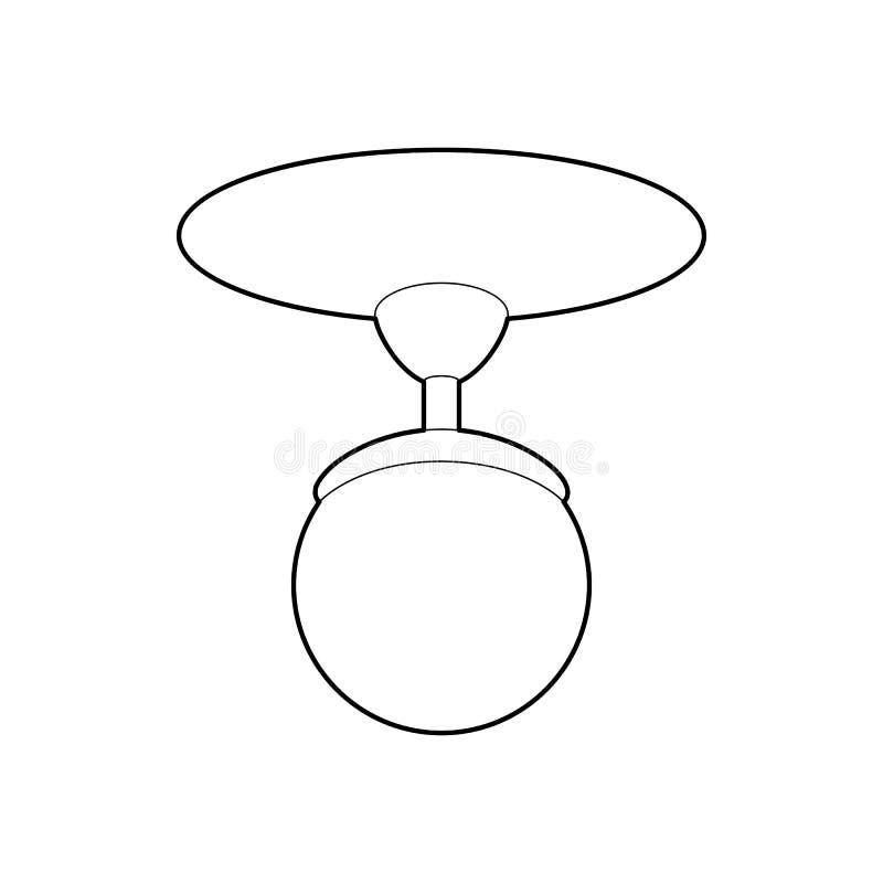 圆的枝形吊灯象,概述样式 免版税库存照片
