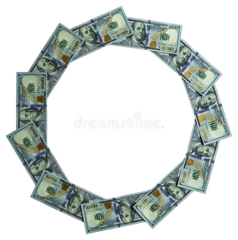 圆的框架做了†‹â€ ‹mone 免版税库存照片