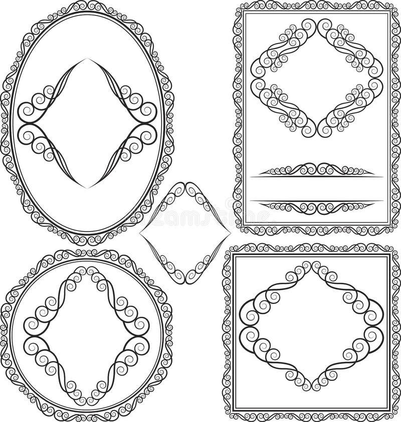 圆的框架卵形长方形正方形 库存照片