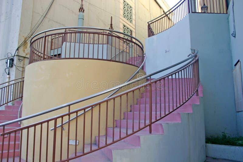圆的楼梯 免版税库存照片