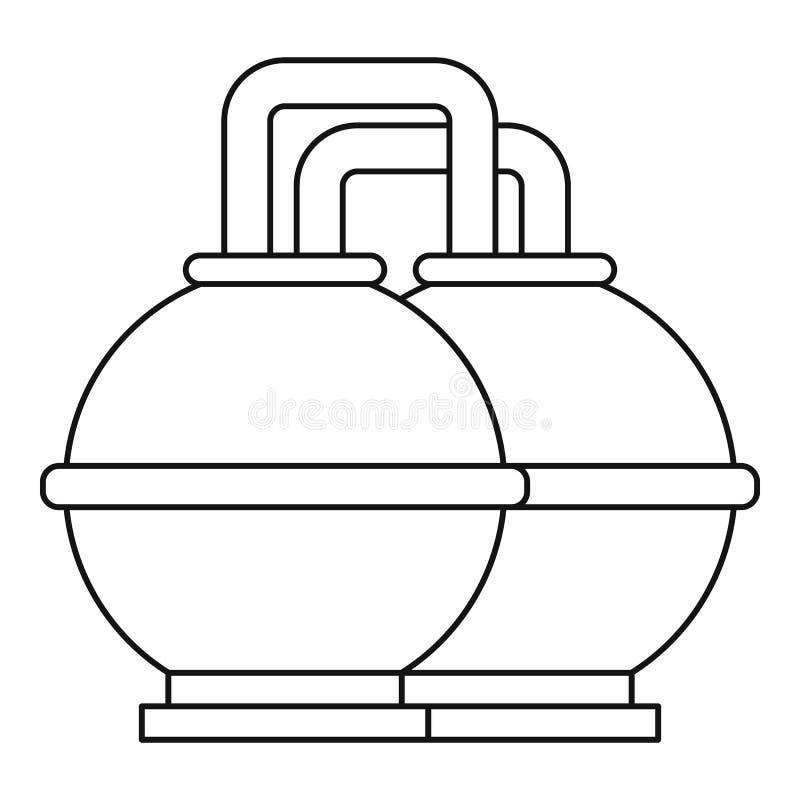 圆的油箱象,概述样式 皇族释放例证