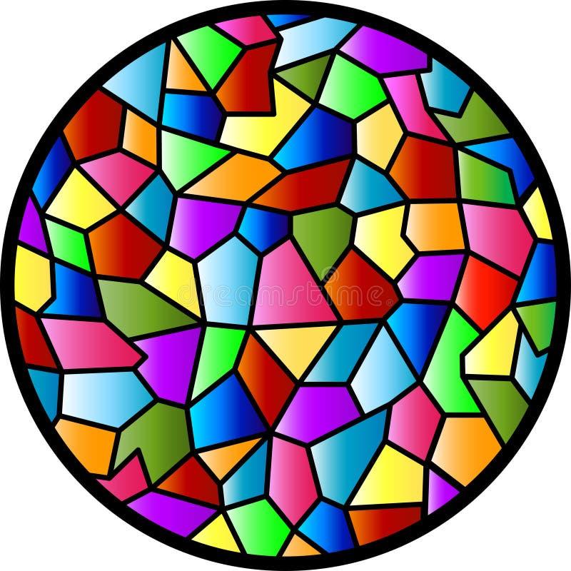 圆的玻璃被弄脏的视窗 库存例证