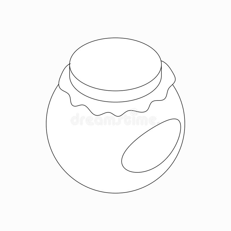 圆的瓶子象,等量3d样式 皇族释放例证