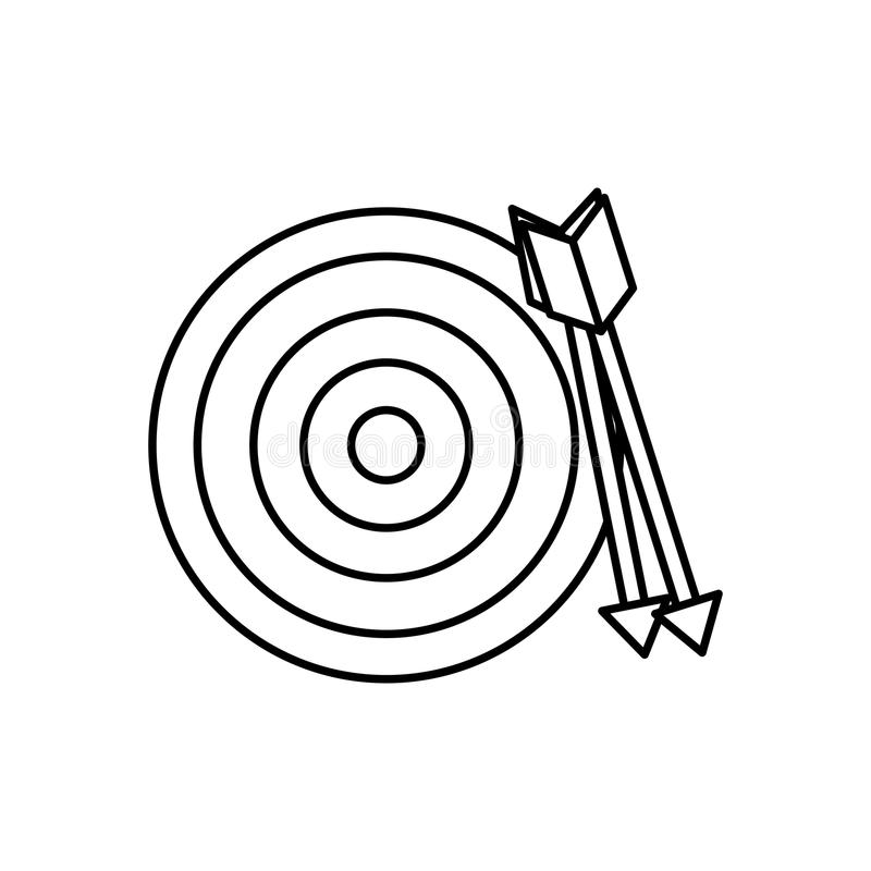 圆的目标掷镖的圆靶 库存例证