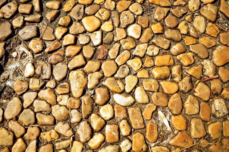 圆的石头 库存照片