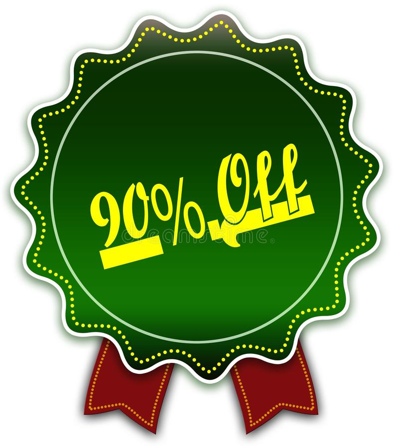 圆的绿色丝带的90% 库存照片
