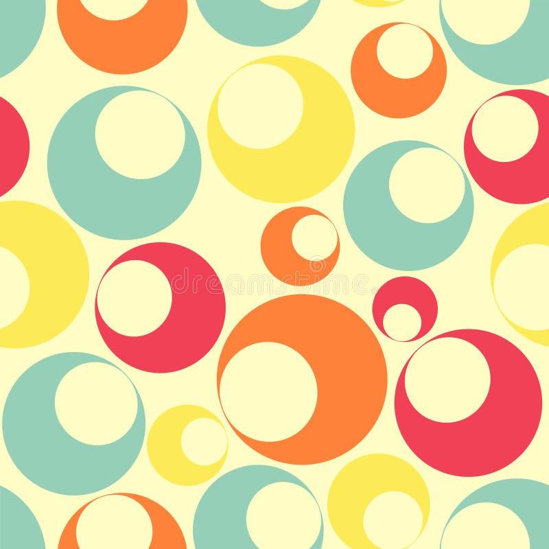 圆的色的多模式无缝的形状 向量例证